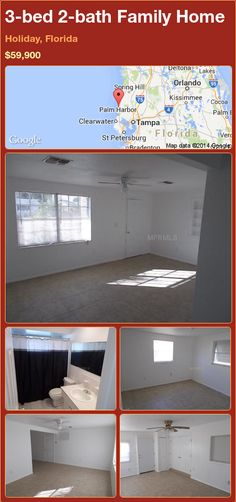 3-bed 2-bath Family Home in Holiday, Florida ►$59,900 #PropertyForSale #RealEstate #Florida http://florida-magic.com/properties/87107-family-home-for-sale-in-holiday-florida-with-3-bedroom-2-bathroom