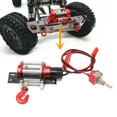 best price winch traction all metal type a for 110 rc crawlers ya 0386 rc car part #rc #winch