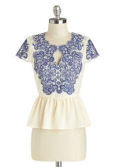 Graceful Sophistication Top | Mod Retro Vintage Short Sleeve Shirts | ModCloth.com