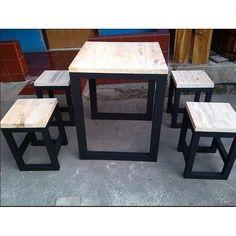 Meja Cafe Jatibelanda (700rb) - Top Table Solidwood Jatibelanda - Finishing Melamin (Water Proof) Rangka Kayu Jati Belanda finishing duco - Ukuran Meja P60 x L60 x T75 - Ukuran Kursi P30 x L30 x T45 For Information : Whatsap Only : 085715411678 (Fast Respon) Whatsap Only : 085778150115 (Fast Respon) BBM : 514BC5C7 Tokopedia : mejacafe123 Harga Set 1 Rp. 700.000 ( 1 Meja 2 Bangku ) Harga Set 2 Rp. 1.100.000 ( 1 Meja 4 Bangku ) Alasan Memilih MejaCafe123 ? 1. Kami adalah team yang so...