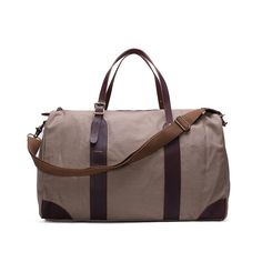 Leather Trimmed Waxed Canvas Travel Bag | Duffle Bag | Holdall Weekend – Woods&Leather