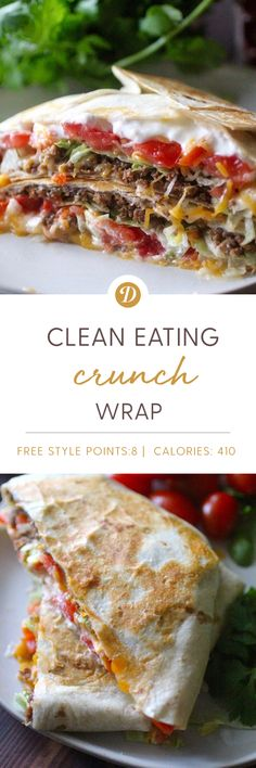 Clean Eating Crunch Wrap