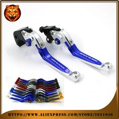 41.56$  Watch now - http://ali78y.shopchina.info/go.php?t=32783654629 - Adjustable Folding Extendable Brake Clutch Lever Motorcycle For SUZUKI GSXR1000 GSXR 2007 2008 BLUE WITH LOGO CNC Free shipping   #aliexpresschina