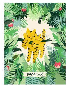 Affiche Papa Cool par Michelle Carlslund - Edition limitée EMOI EMOI - Photo                                                                                                                                                                                 Plus