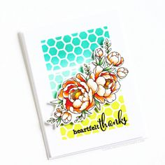Stamps: Pick A Peony, Fancy Sayings / Stencils: Honeycomb Crunch Love Your Smile, My Love, Clear Stamps, Honeycomb, Peony, Stencils, Fancy, Sayings, Blog