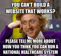 You can't build a web site that works?
