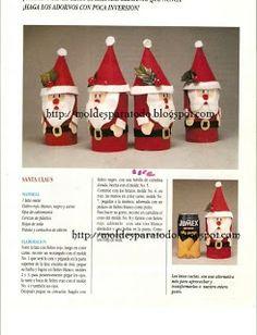 Moldes para Todo: ~ Dulceros Santa Claus ~