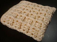 Free Pattern - Crochet Ridged Dish Cloth