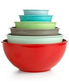 Martha Stewart Collection Set of 6 Melamine Mixing Bowls Macy's by lucile