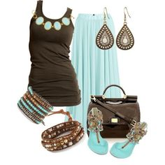 LOLO Moda: #brown #top #maxi #skirt #comfy #flat #2014 #summer #spring, http://www.lolomoda.com