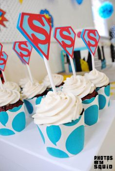 Photo 2 of Superheros / Birthday Super Sams Birthday Bash Superman Kids, Superman Party, Superhero Party, Boy Birthday Parties, 4th Birthday, Birthday Ideas, Geek Wedding, Red Velvet Cupcakes, Birthday Decorations