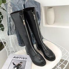 4f122f95ac0 BLACK PLATFORM HEEL ZIPPER HIGH BOOTS  boots  highboots  black  zipper   heel. itGirl Shop