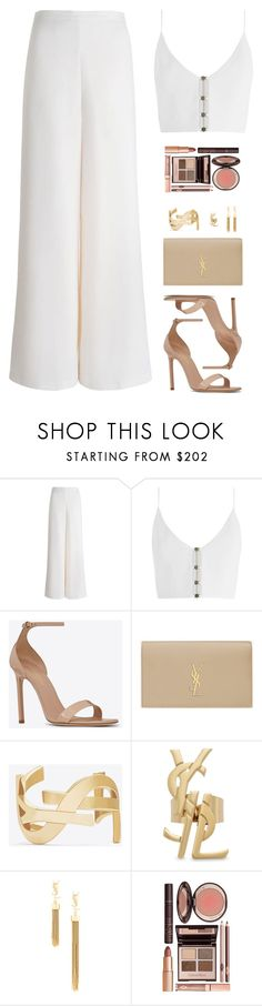 """Sin título #4486"" by mdmsb on Polyvore featuring moda, Zimmermann, Yves Saint Laurent y Charlotte Tilbury"