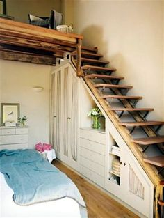 Space saving stairs -perfect go up into loft conversion without losing too much space from the main floor! Description from pinterest.com. I searched for this on bing.com/images