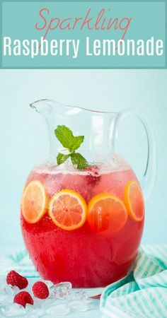 Sparkling Raspberry Lemonade l Cooking Classy Party Drinks, Fun Drinks, Healthy Drinks, Beverages, Detox Smoothies, Smoothie Drinks, Refreshing Drinks, Summer Drinks, Summer Parties
