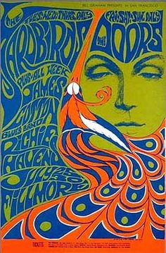 The late psychedelic rock poster art by teresa. I could adapt and use Fornasettie design on a doodle wall maybe? Poster Art, Kunst Poster, Poster Design, Gig Poster, Flyer Design, Rock Posters, Band Posters, Posters Vintage, Vintage Concert Posters