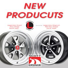 New wheels from the Legendary Wheel Company and Scott Drake. Hot new products, get yours today!