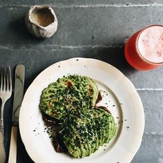Avocado Toast + Iced Grapefruit Juice