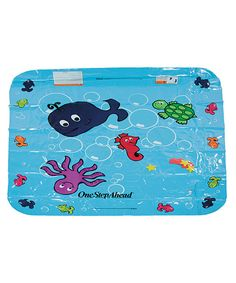 Silly splashers love to wade in this fish-filled tide pool. Designed to attach to a garden hose and featuring adjustable sprayers, it's the perfect aquatic addition to any backyard. Recommended for ages 1 year and up.