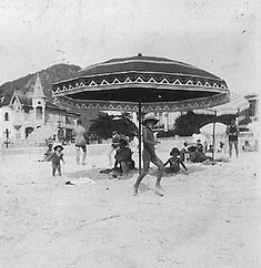 Fotos antigas do Rio de Janeiro - Praia de Copacabana - Anos 20