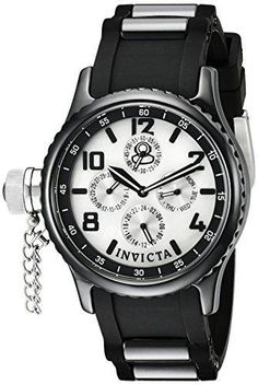 Women's Russian Diver Analog Display Japanese Quartz Black Watch #Invicta