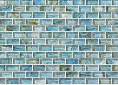 Ceramic Glass Expressions Micro Blocks - CS39D - Azure - Flooring by Shaw