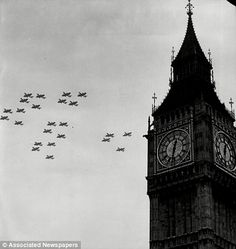 Photograph-RAF Battle Of Britain Anniversary fly past, Big Ben London, Photo Print expertly made in the USA Big Ben London, Old London, Blitz London, London Food, London Eye, London History, British History, Asian History, Tudor History