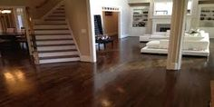 Barry offer several processes that will fit every budget to help renew the beauty of your hardwood floors. Some have none of the inconvenience of traditional sanding and most allow you to use the rooms the same day. Many of our floor refinishing services will allow you to walk in the rooms being restored by dinner time of the day the services are provided. From complete refinishing which can include sanding, staining, and if necessary seamlessly weaving of boards, to carpet and staple…
