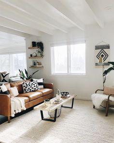 Sunday redecorating goals via @saschaovard! That Hamilton Leather Sofa looks