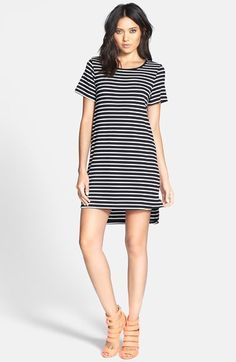GLAMOROUS Stripe Knit T-Shirt Dress available at #Nordstrom