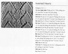 Inverted hearts stitch pattern...
