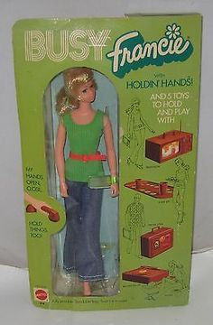 1971 Mattel Busy Francie Doll NRFB Lot#BD100 Rare