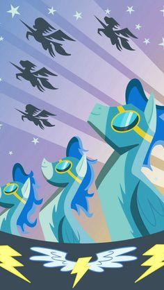 Wonderbolts, my little pony, MLP All My Little Pony, My Little Pony Friendship, Diesel Punk, My Little Pony Wallpaper, Imagenes My Little Pony, Fandom, Canvas Prints, Art Prints, Rainbow Dash