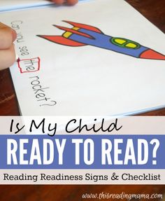 How do you know if your child is ready to read? Here are five reading readiness signs plus a FREE printable list! | This Reading Mama