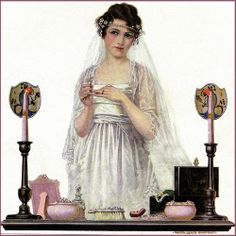 Bride at her Vanity Table @@@.....http://www.pinterest.com/pinktearose/im-getting-married-in-the-morning/