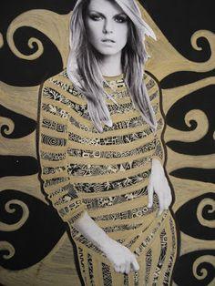 a faithful attempt: Klimt Gold Patterns Collage