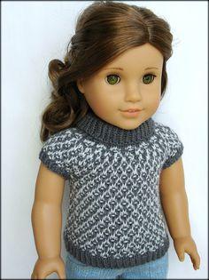 Gwen  Slip Stitch roulé avec mancherons  PDF Knitting par Qute