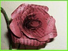 MANUALIDADES FLORES DE PAPEL RECICLADO por georgio - recycled paper flowers - YouTube