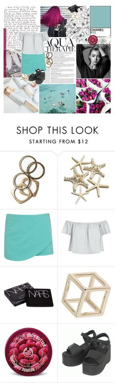 """""""let me repeat it   tag"""" by lucidmoon ❤ liked on Polyvore featuring GET LOST, Anja, Rachel Leigh, Miss Selfridge, New Look, NARS Cosmetics, Topshop, The Body Shop and Dr. Martens"""