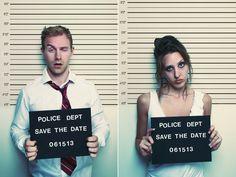 Mug Shot Wedding Invitation