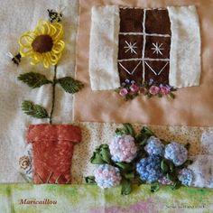 Scrap,quilt and stitch: Grandma's garden