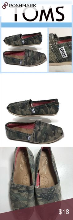 71baac6accb7 Toms Classic Washed Camo Flat Slip On Shoes Only worn once so in excellent  condition Washed
