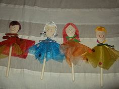 Four seasons wooden spoon puppets - Négy évszak fakanálbábok