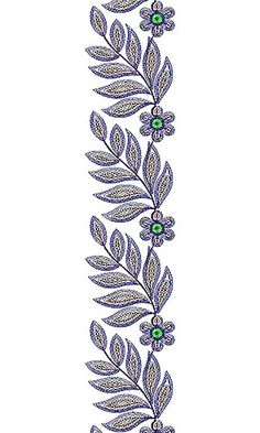 Vintage Inspired Lace Embroidery Design