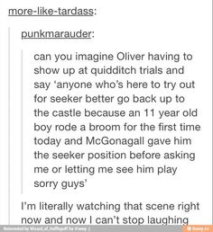 This is funny, but I always got the implication from the books that there had been people trying out for Seeker, but none of them had been very good.  So rather than tell a whole crowd, Oliver had been holding out on telling who had made the team when McGonagall brought Harry to him.