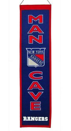 New York Rangers Banner Wool Man Cave