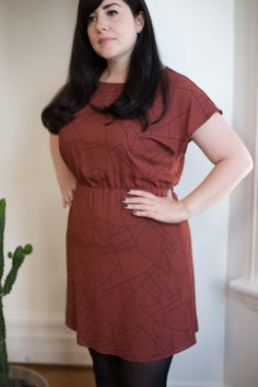 Eve Gravel Clothing Montreal Fire Bird Dress Rust Constellation Made in Montreal Victoire Boutique