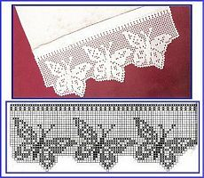 Ideas Knitting Lace Stitches Double Crochet For 2019 Crochet Edging Patterns, Crochet Lace Edging, Crochet Motifs, Crochet Borders, Crochet Chart, Thread Crochet, Lace Knitting, Crochet Designs, Crochet Doilies