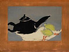 """Georges Braque France 1882-1963 """"Théière et citrons"""". Lithograph in colours, 1949, on Arches paper"""