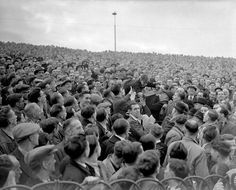 glorious picture here of a young fan being passed over the heads of the crowd to a better viewing position at the front of the terrace, during a match between Chelsea and Arsenal at Stamford Bridge in 1947 Chelsea Fans, Chelsea Football, World Cup Final, Stamford Bridge, Wonderful Picture, Vintage Football, Old London, Historical Pictures, Nice View